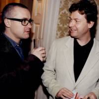 Damien Hirst and Danny Moynihan