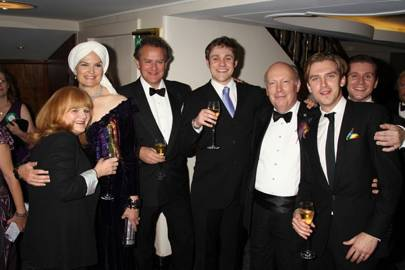 Lesley Nicol, Lady Emma Fellowes, Hugh Bonneville, Thomas Howes, Lord Fellowes, Dan Stephens and Allen Leech