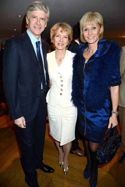 Arsène Wenger, Jenny Seagrove and Annie Brosterhous