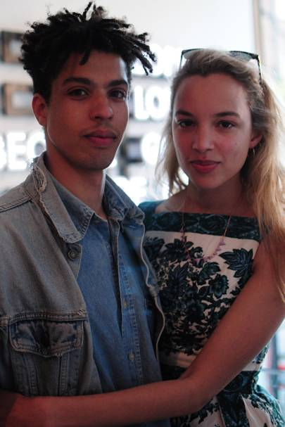 Sean Frank and Phoebe Collings-James