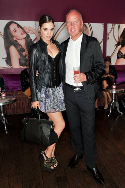 Amber Le Bon and Garry Hogarth