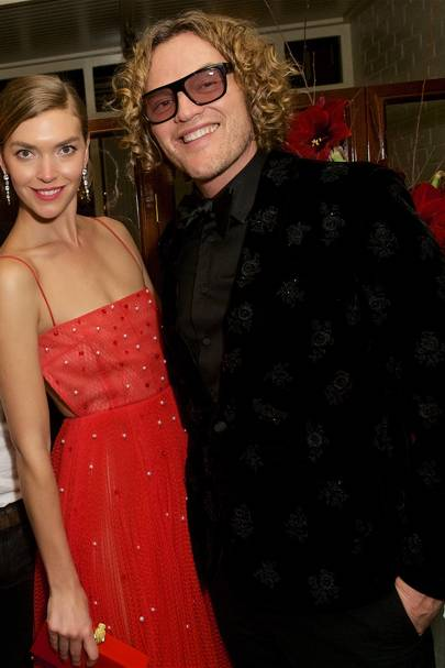 Arizona Muse and Peter Dundas