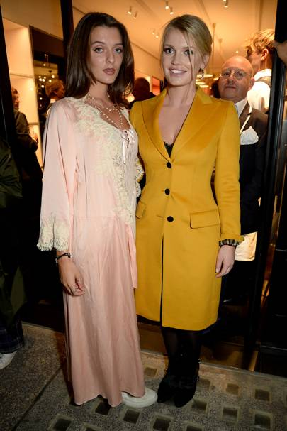 Eliza Moncreiffe and Lady Kitty Spencer