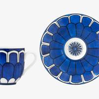 Hermès Bleus d'Ailleurs coffee cup and saucer