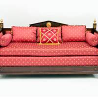 A sofa from the Imperial Suite