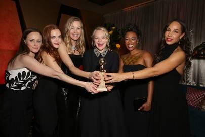 Alexis Bledel, Madeline Brewer, Yvonne Strahovski, Elisabeth Moss, Samira Wiley and Amanda Brugel