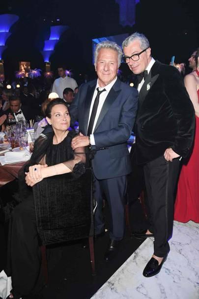 Lisa Hoffman, Dustin Hoffman and Giorgio Guidotti