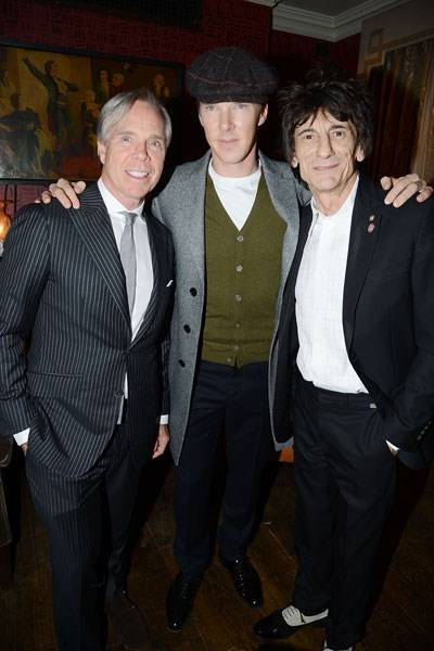 Tommy Hilfiger, Benedict Cumberbatch and Ronnie Wood
