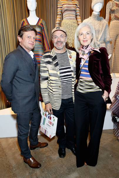 Tom Chapman, Luca Missoni and Ruth Chapman