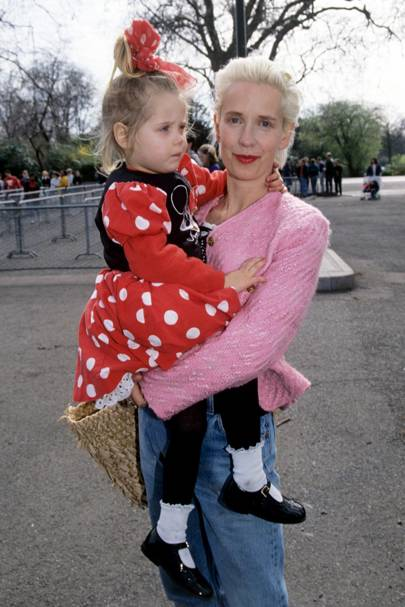 With mother Paula Yates in 1993