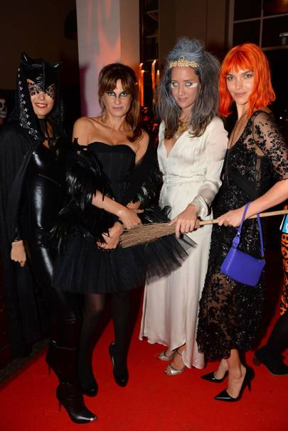 Amanda Sheppard, Jemima Khan, India Langton and Arizona Muse