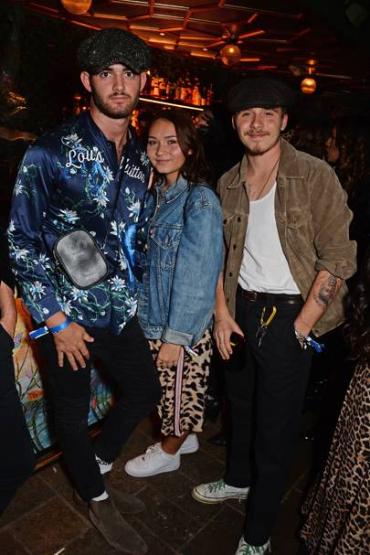 Brooklyn Beckham and guests