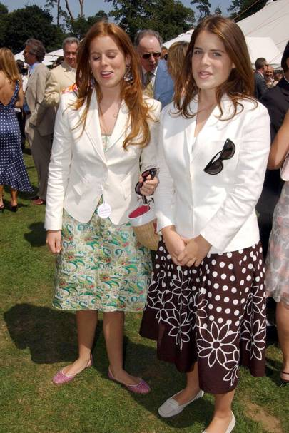 With Princess Beatrice at the Cartier International Polo, 2004
