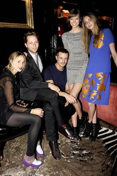 Elisabeth von Thurn und Taxis, Derek Blasberg, Jonathan Saunders, Karlie Kloss and Cara Delevingne
