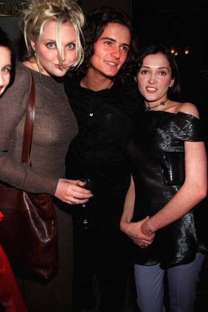1998: With Sophie Dahl and Orlando Bloom at the opening of Kriza in Mayfair