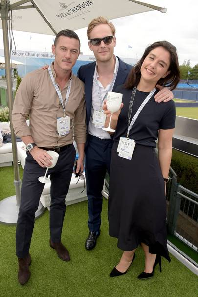 Luke Evans, Jack Fox and Jessie Ware