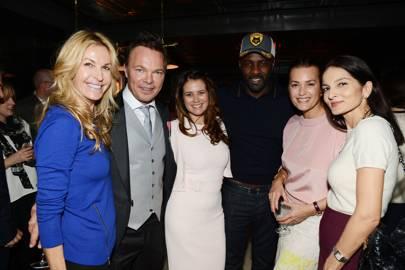 Melissa Odabash, Pete Tong, Caroline Acosta, Idris Elba, Yasmin Le Bon and Yasmin Mills