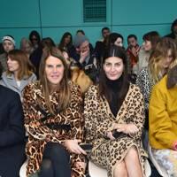 Anna Dello Russo and Giovanna Battaglia at Gucci A/W18