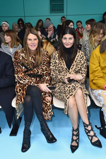 Anna Dello Russo and Giovanna Battaglia at Gucci A/W18