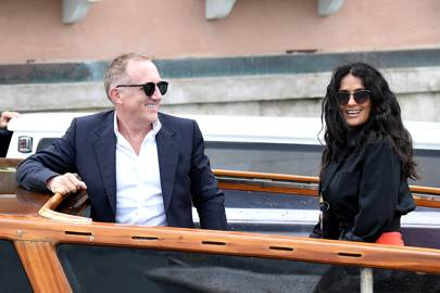 Francois Henri Pinault and Salma Hayek arrive at the festival