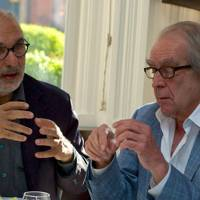 Alan Yentob and Gerald Scarfe