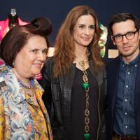 Erdem Moralioglu, Livia Firth and Suzy Menkes