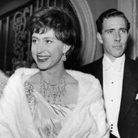 1960: With Lord Snowdon at the Royal Opera House