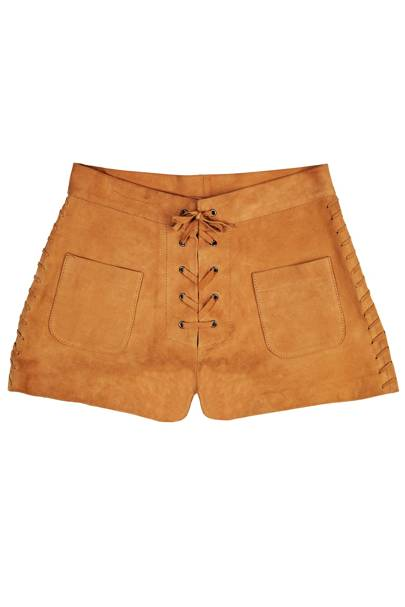Suede shorts, £205, by Paul & Joe