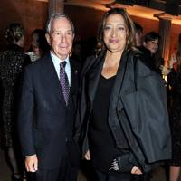 Michael Bloomberg and Zaha Hadid