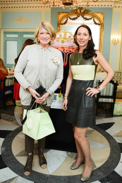 Martha Stewart and Elisabeth Holder