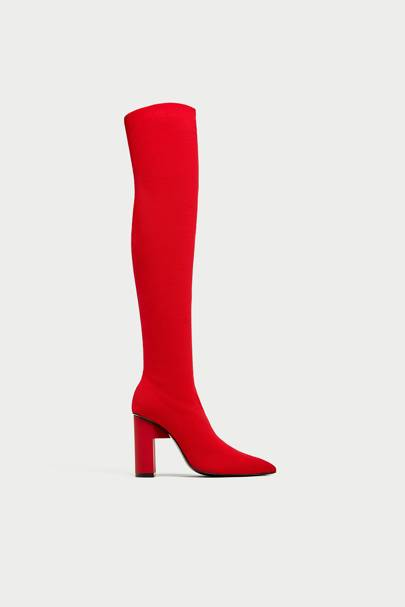 Zara thigh-high boots