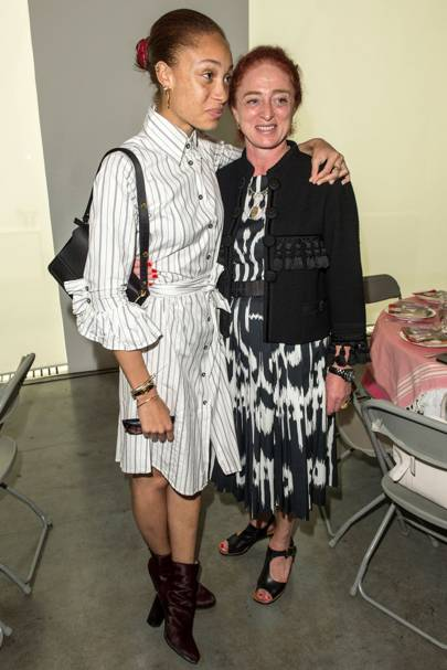 Adwoa Aboah and Camilla Lowther