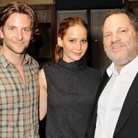 Bradley Cooper, Jennifer Lawrence and Harvey Weinstein
