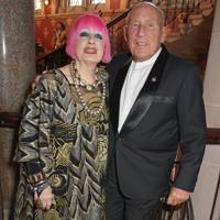 Dame Zandra Rhodes and Sir Stirling Moss