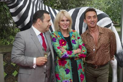 Michael Volpe, Joanna Lumley and Bruno Tonioli