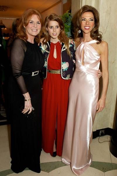 Sarah Duchess of York, Princess Beatrice and Heather Kerzner