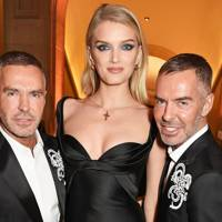 Dan Caten, Lily Donaldson and Dean Caten