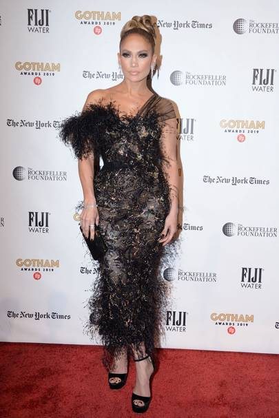 Jennifer Lopez wearing Ralph & Russo to the 2019 IFP Gotham Awards
