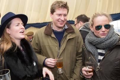 Chloe Delevingne, Charlie Pragnell and Emily Pragnell