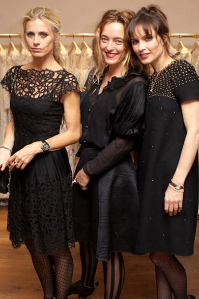 Laura Bailey, Alice Temperley and Sheherazade Goldsmith