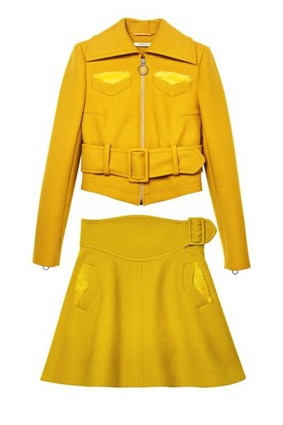 Gabardine jacket, £540, and skirt, £320 by Carven