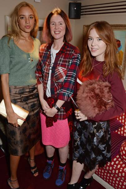Phoebe Collings-James, Cozette McCreery and Angela Scanlon