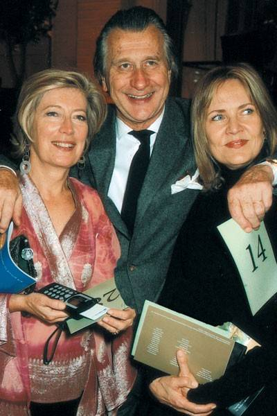 Mrs Forbes Singer, Arnaud Bamberger and Mrs Arnaud Bamberger