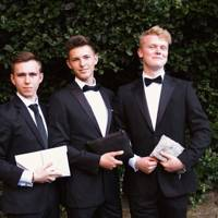 George Bailey, Connor McClaughlin and Charles McRoberts