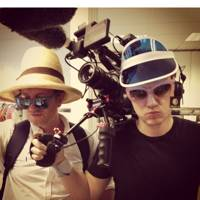Some of our film crew: Barnaby and Martin