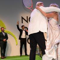 Boris Becker and Goldie Hawn