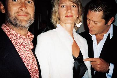 Adrian Gill, Nicola Formby and Arpad Busson