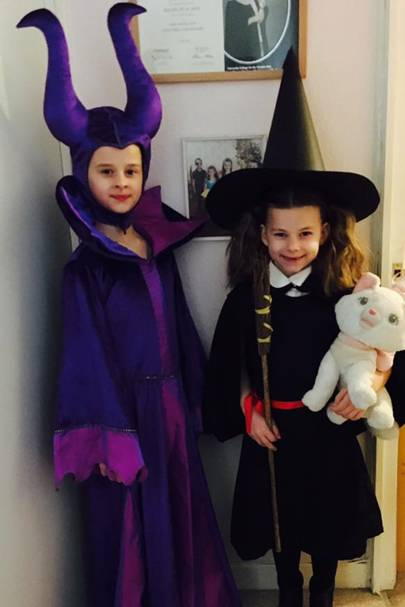 Millie Archbold as Maleficent and Bethany Archbold as The Worst Witch