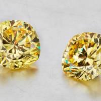 Superb coloured diamond earrings