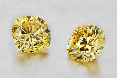 Superb coloured diamond earrings
